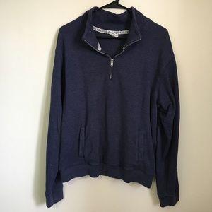 PINK Blue Half Zip Pullover M